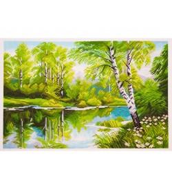 Colection D'art Kanaviçe Seti Göl Kenarında Huş Ağacı PA1020