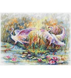 Colection D'art Kanaviçe Seti Flamingo Dansı PA1769
