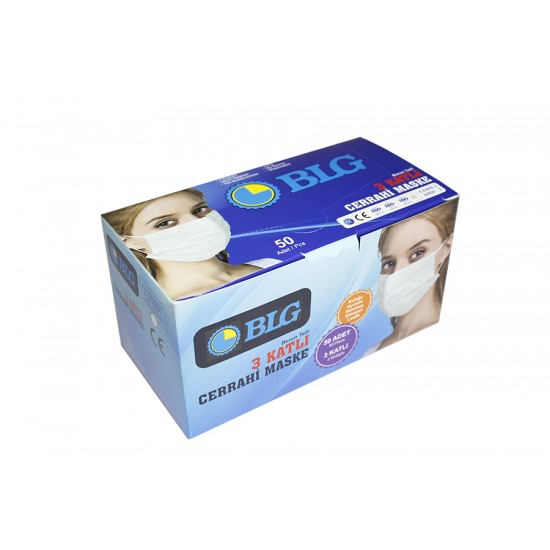 BLG Cerrahi Maske 3 Katlı 50 adet