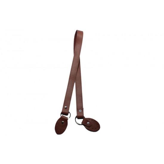 Kahverengi Deri Çanta Sapı