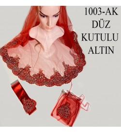 Kına Örtüsü Seti Düz Kutulu Altın 1003-AK