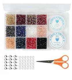 Aren Kristal Boncuk Takı Yapım Seti 6 mm | Premium Paket