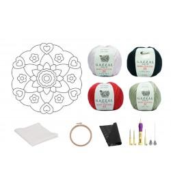 Kalp Desen Mandala Şablonu Punch Set