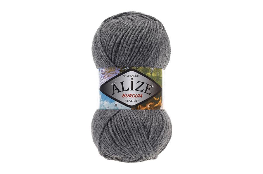 Alize Burcum Klasik Koyu Gri Melanj-196