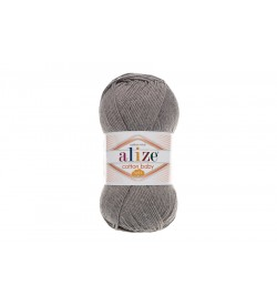 Alize Cotton Baby Soft Koyu Gri Melanj-197