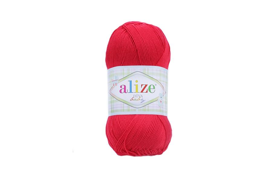 Alize Diva Baby Kırmızı-56