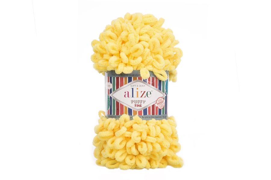 Alize Puffy Fine El Örgü İpi Sarı-113
