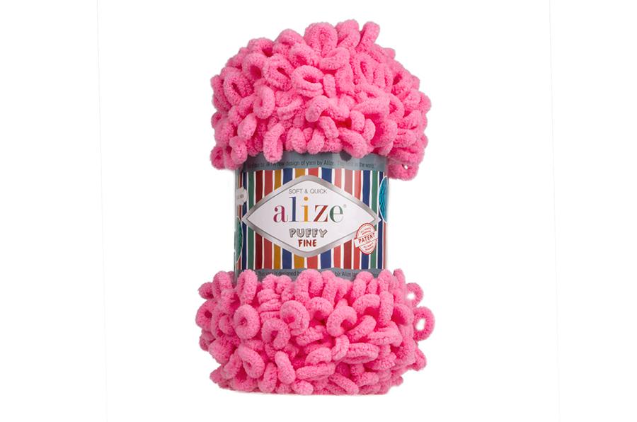 Alize Puffy Fine El Örgü İpi Pamuk Şeker-121