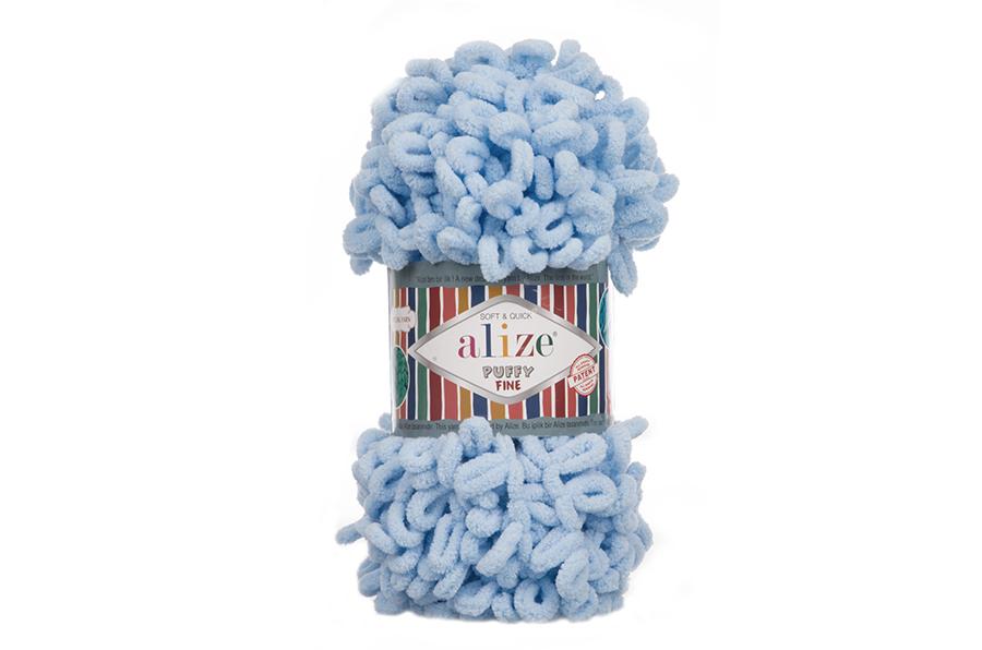 Alize Puffy Fine El Örgü İpi Bebe Mavi-218