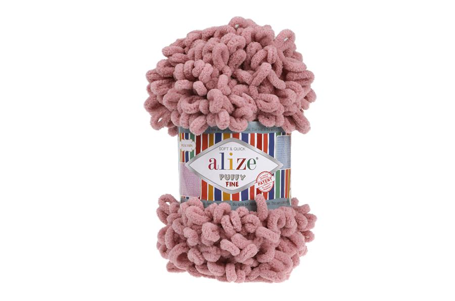 Alize Puffy Fine El Örgü İpi Pembe Gül-295