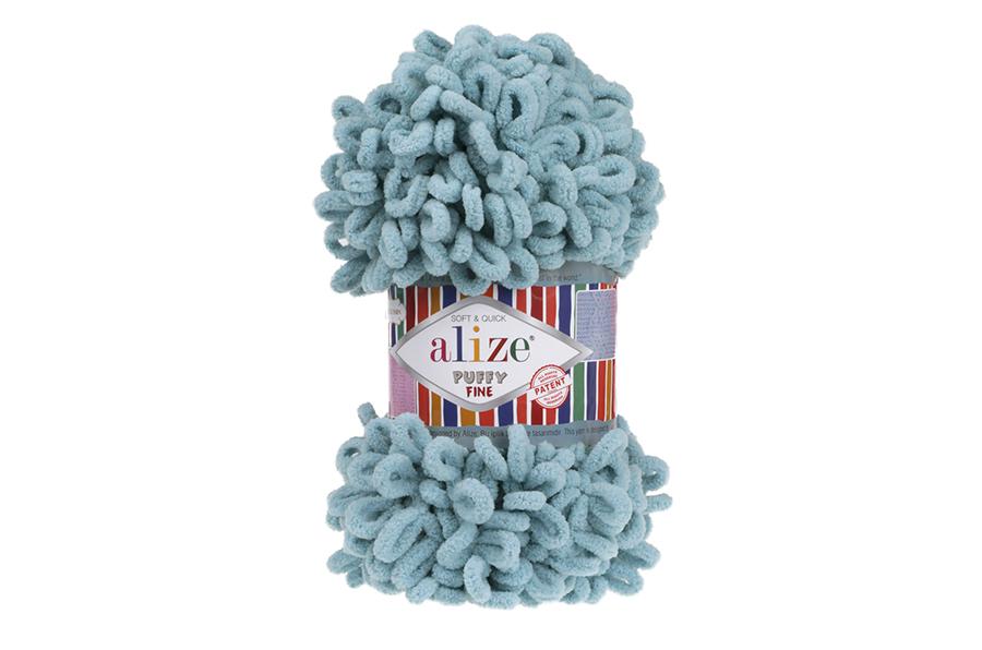 Alize Puffy Fine El Örgü İpi Azur-414