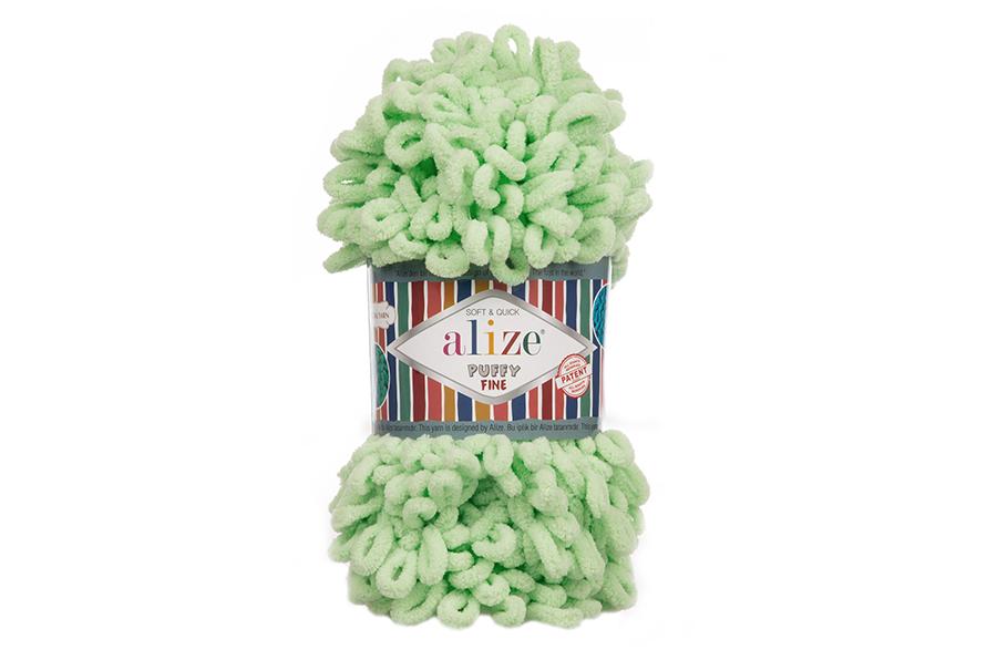 Alize Puffy Fine El Örgü İpi Yeşil-516