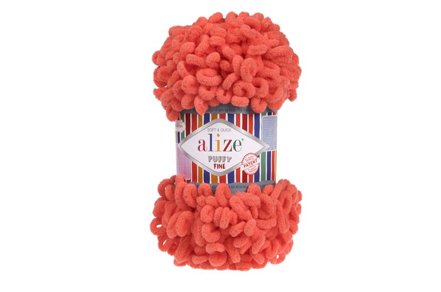 Alize Puffy Fine El Örgü İpi Nar Çiçeği-526