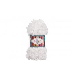 Alize Puffy Fine El Örgü İpi Beyaz-55