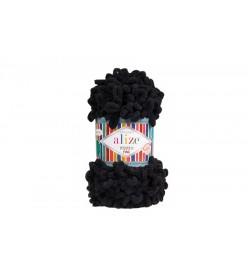 Alize Puffy Fine El Örgü İpi Siyah-60