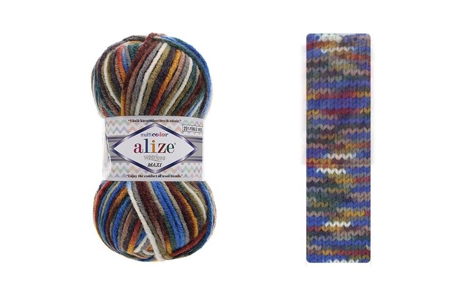 Alize Superlana Maxi Multi Color 52141