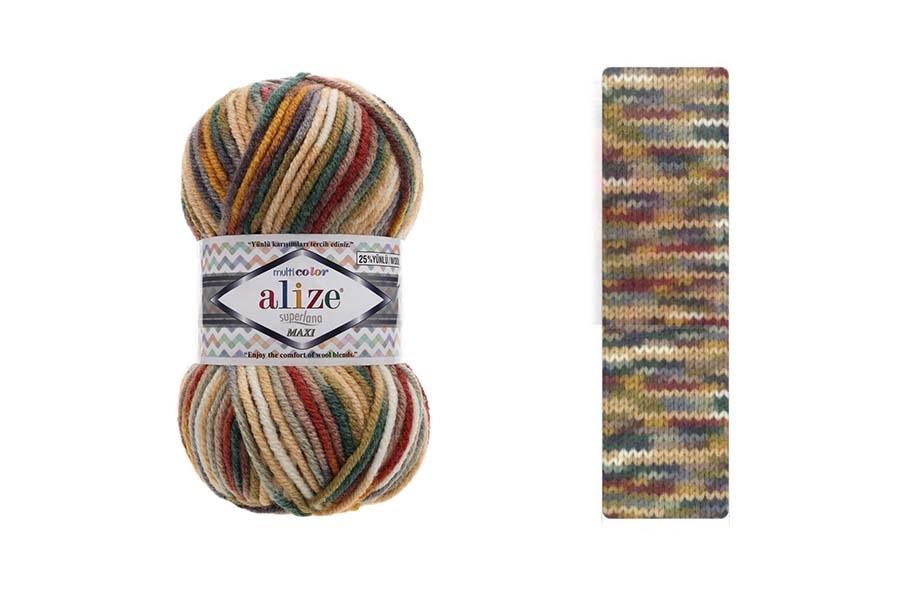 Alize Superlana Maxi Multi Color 52143