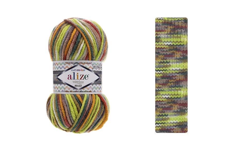 Alize Superlana Maxi Multi Color 52149