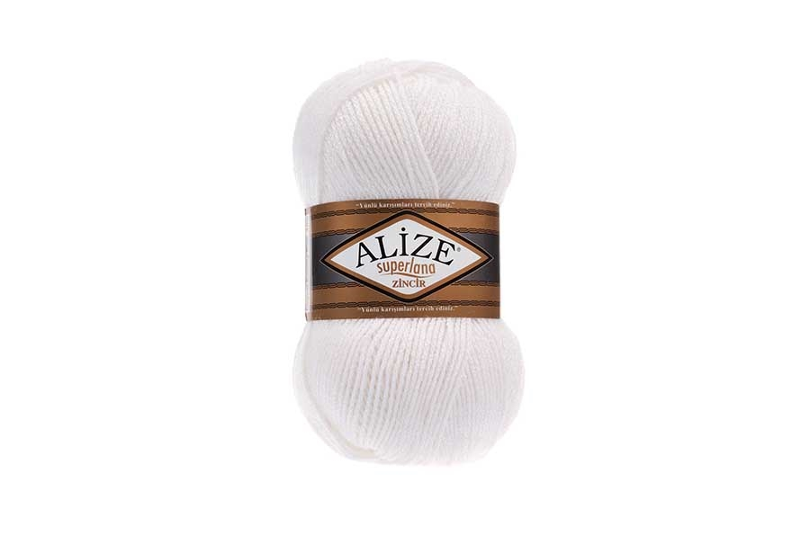 Alize Superlana Zincir Beyaz-55