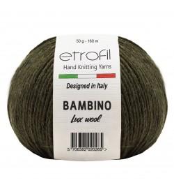 Etrofil Bambino Lux Wool Haki Melanj 70410