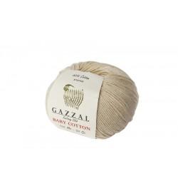 Gazzal Baby Cotton Bej Bebek Yünü-3445