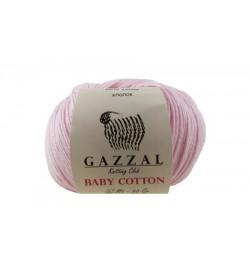 Gazzal Baby Cotton Açık Pembe Bebek Yünü-3411