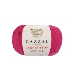 Gazzal Baby Cotton Fuşya Bebek Yünü-3415