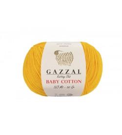 Gazzal Baby Cotton Hardal Sarısı Yünü-3417