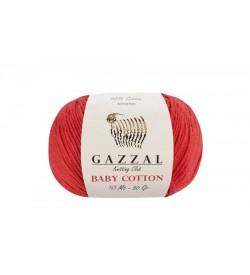 Gazzal Baby Cotton Kırmızı Bebek Yünü-3418