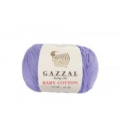 Gazzal Baby Cotton Açık Lila Bebek Yünü-3420
