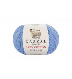 Gazzal Baby Cotton Açık Mavi Bebek Yünü-3423