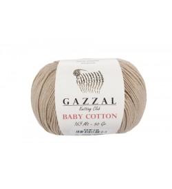 Gazzal Baby Cotton Bej Bebek Yünü-3424