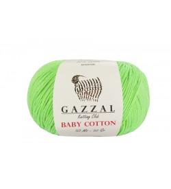 Gazzal Baby Cotton Açık Yeşil Bebek Yünü-3427