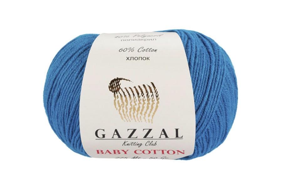 Gazzal Baby Cotton Mavi Bebek Yünü-3428