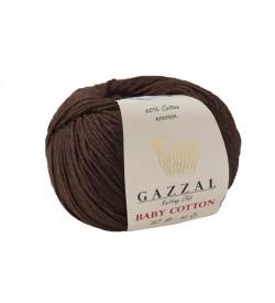 Gazzal Baby Cotton Kahverengi Bebek Yünü-3436