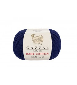 Gazzal Baby Cotton Lacivert Bebek Yünü-3438