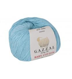 Gazzal Baby Cotton Açık Mavi Bebek Yünü-3451