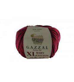 Gazzal Baby Cotton XL Bordo Bebek Yünü-3442XL