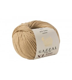 Gazzal Baby Cotton XL Bej Bebek Yünü-3424XL
