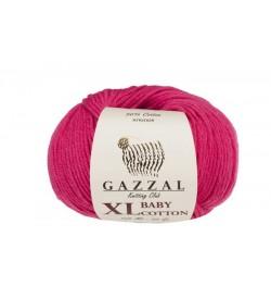 Gazzal Baby Cotton XL Fuşya Bebek Yünü-3415XL