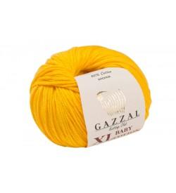 Gazzal Baby Cotton XL Hardal Sarısı Bebek Yünü-3417XL
