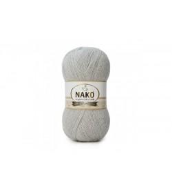 Nako Angora Luks Simli Gümüş Gri-969