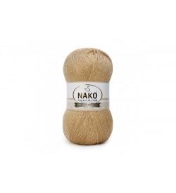 Nako Angora Luks Simli Karamel-6944