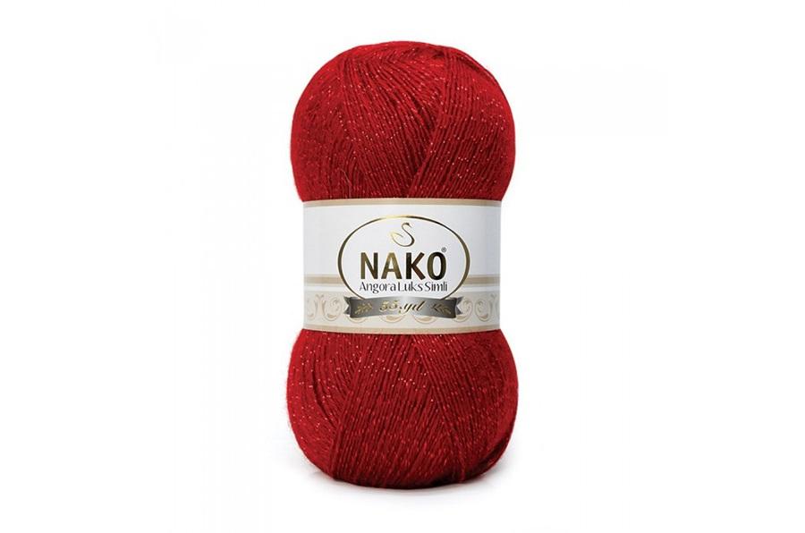 Nako Angora Luks Simli Koyu Kırmızı-1175