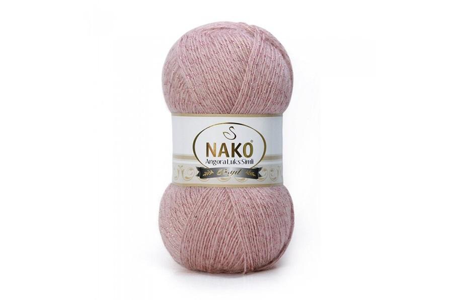 Nako Angora Luks Simli Pembemsi Pudra-10275