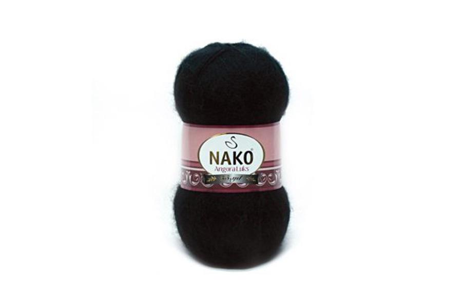 Nako Angora Luks Siyah-217