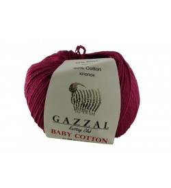 Gazzal Baby Cotton Bordo Bebek Yünü-3442