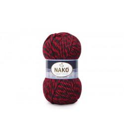 Nako Sport Wool Kırmızı Siyah Muline-21343