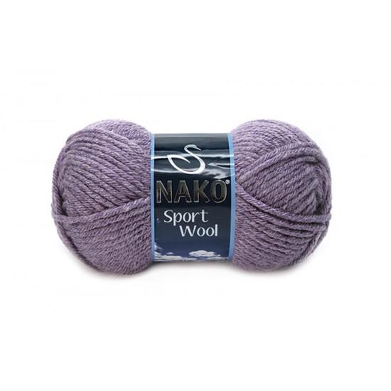 Nako Sport Wool Melanj Mürdüm-23331