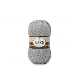 Nako Süper İnci Hit Tweed Açık Gri Melanj-195